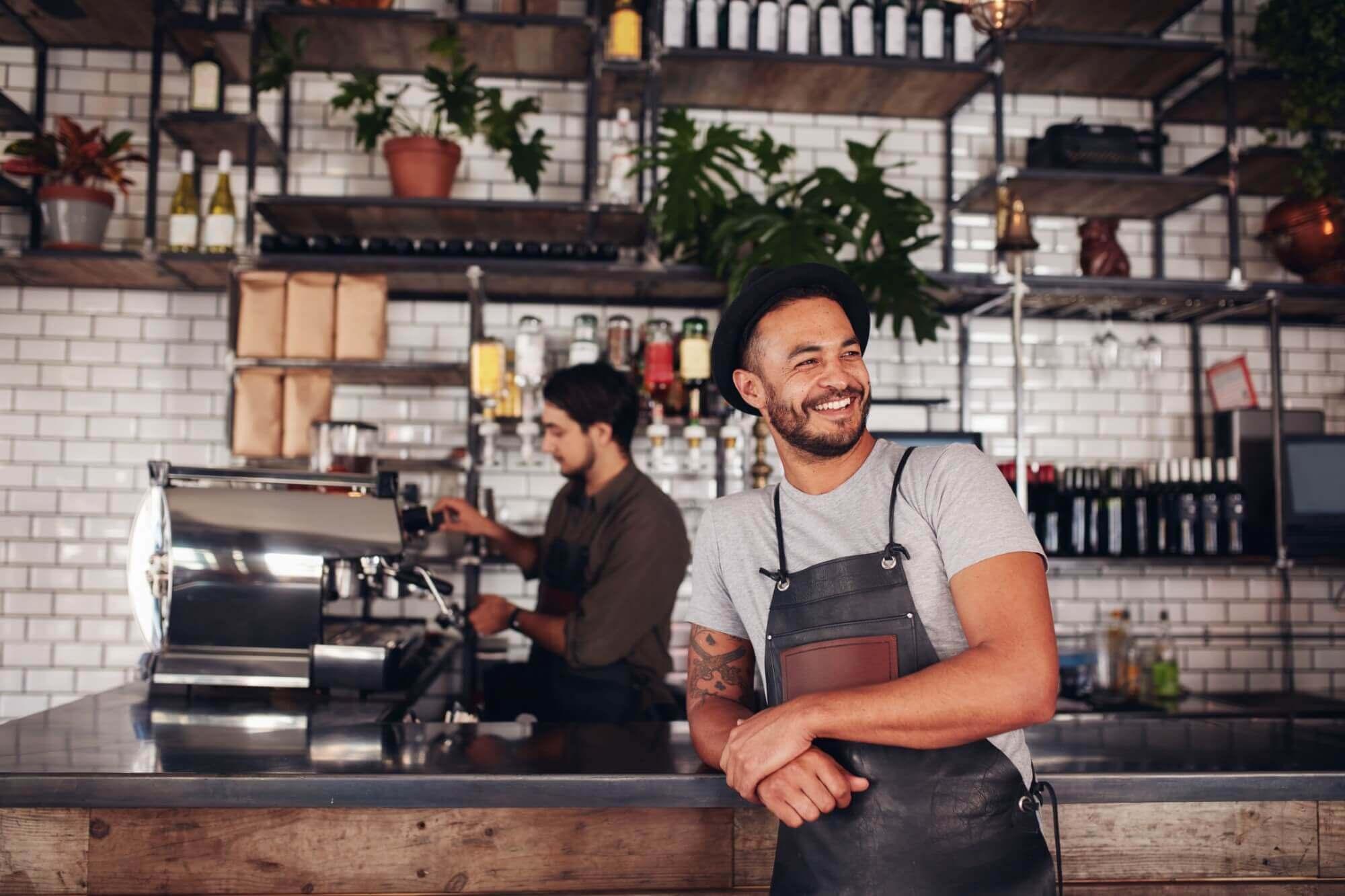 カフェの店員